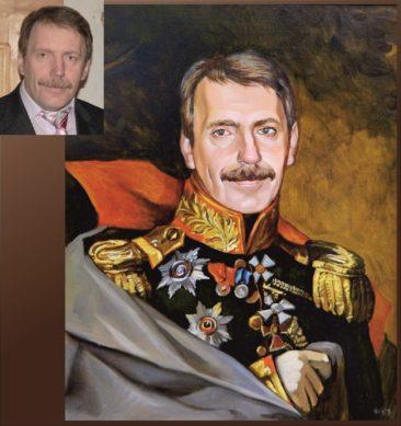 Настоящий портрет маслом на заказ в Одессе…