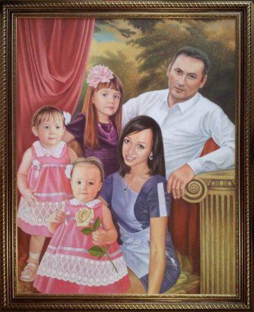 Семейный портрет маслом в Одессе — правильная традиция…