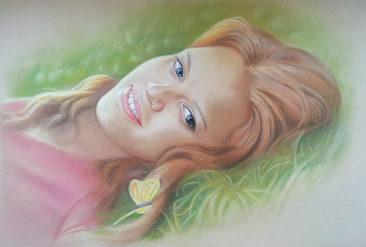 Настоящий портрет пастелью для любимой девушки в Одессе, просто и со вкусом!