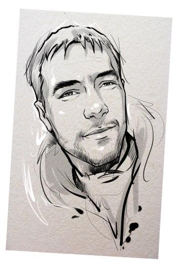Портрет карандашом любимому мужу в Одессе…