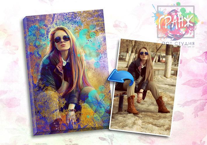 Портрет по фото на заказ в честь 8 марта в Одессе