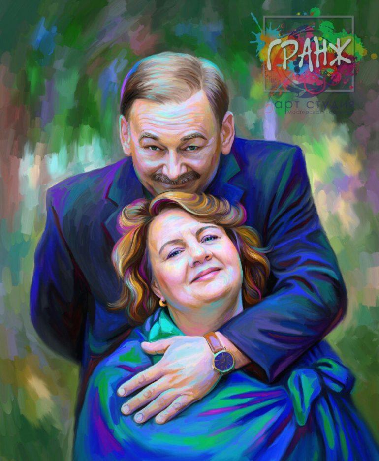 Портрет по фото на холсте Одесса