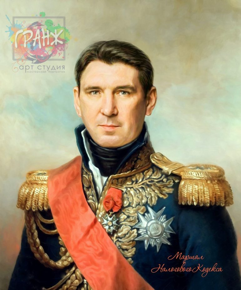 Портрет по фото на холсте в подарок мужчине на 23 февраля Одесса