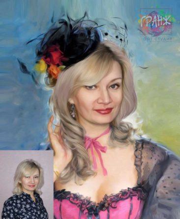 Заказать арт портрет по фото на холсте в Одессе