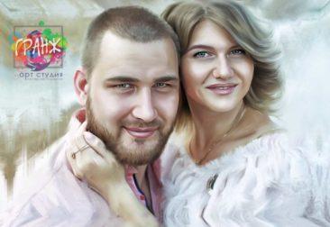 Где заказать портрет по фотографии на холсте в Одессе?