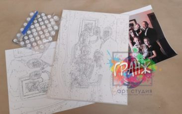 Картина по номерам по фото, портреты на холсте и дереве в Одессе